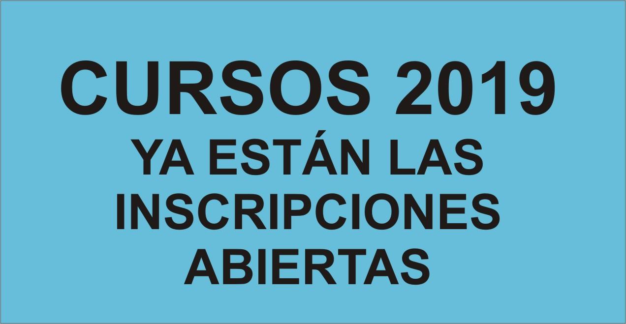 Cursos 2019 Inscripciones Abiertas